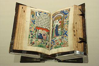 Tidebok, manuskript från 1480 (Bild från Wikimedia Commons)