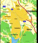 Karta över Uppsala